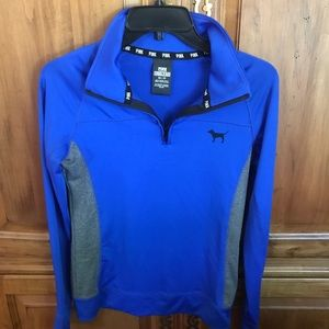 Pink VS - Blue Half Zip Athletic Workout Jacket XS